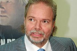 EL ACCIONISTA ALEMAN DEL REAL MALLORCA UTZ CLAASSEN ABANDONA LA SALA DE PRENSA DEL CLUB.