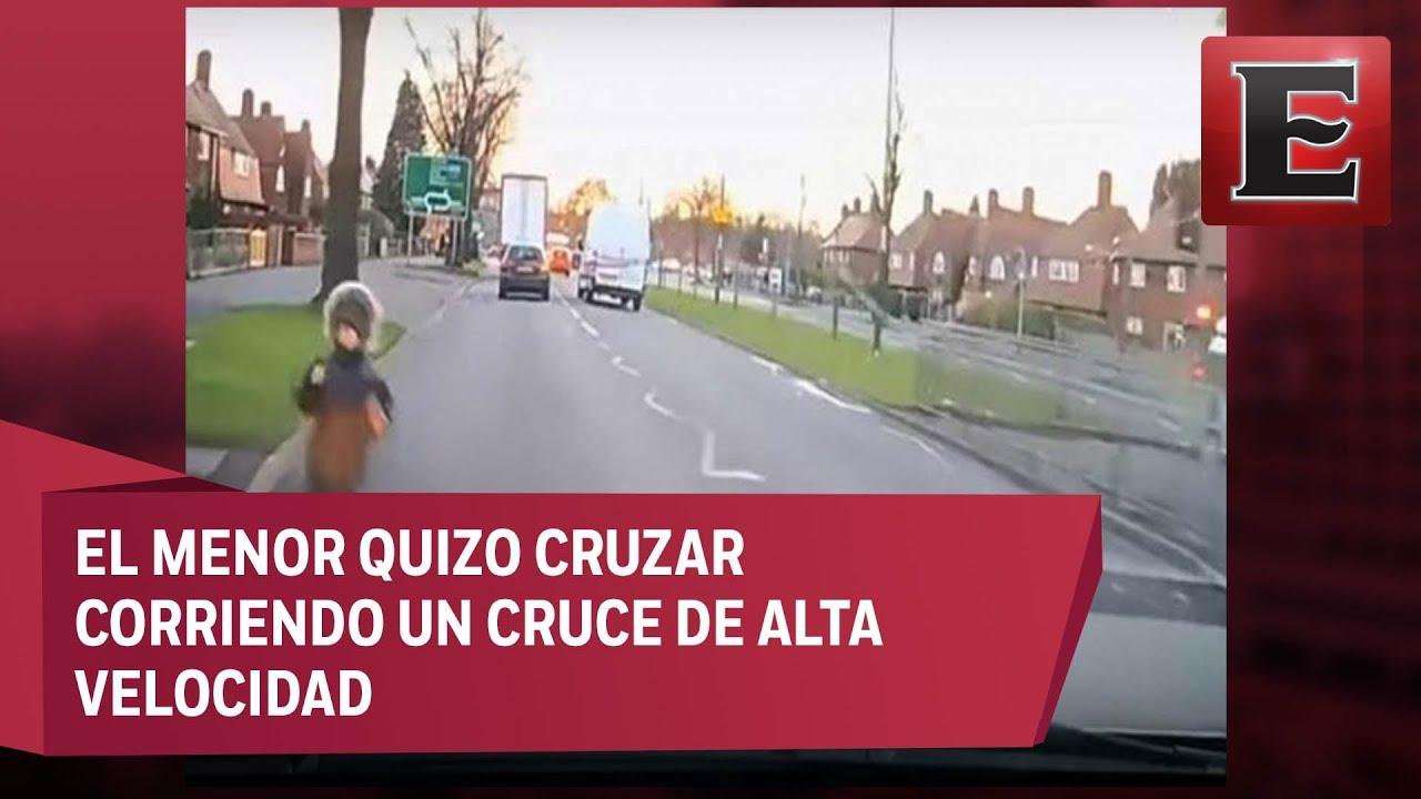 Vídeo | Un niño sale ileso tras un atropello en Inglaterra