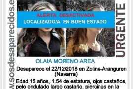 Localizada en perfecto estado la adolescente desaparecida en Navarra