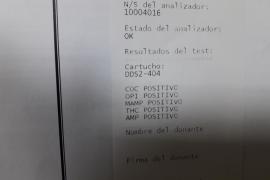 Cazado un conductor tras dar positivo en cinco sustancias estupefacientes en Ibiza
