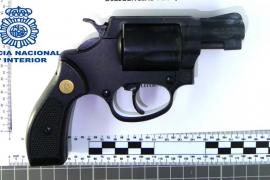 Pistola de fogueo incautada en Manacor
