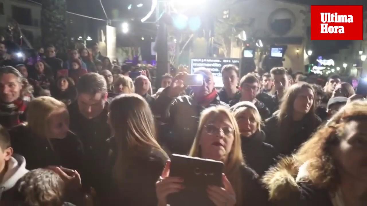 Emoción en Sant Llorenç en las campanadas en Telecinco
