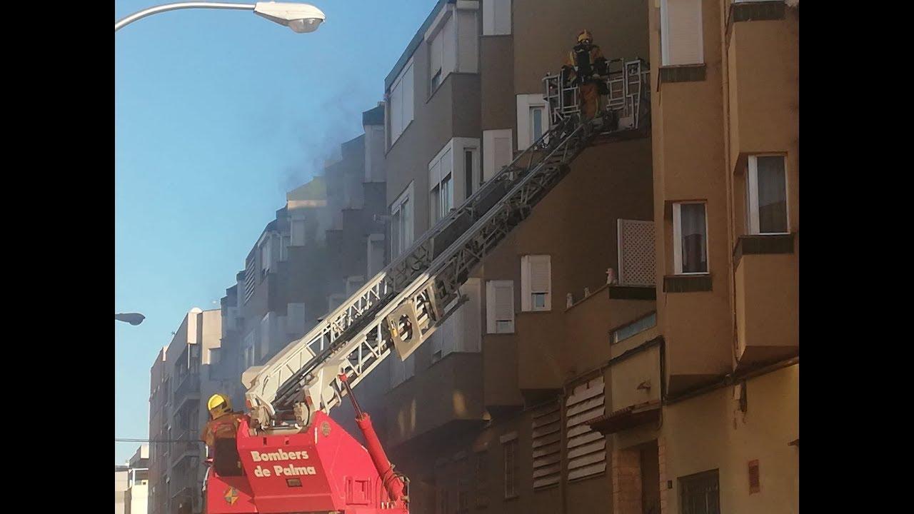 Desalojado otro edificio de Palma por un nuevo incendio