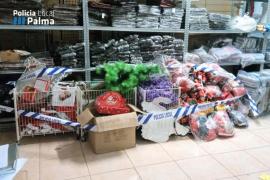 La Policía Local de Palma inmoviliza más de 18.000 artículos por incumplir la normativa de consumo