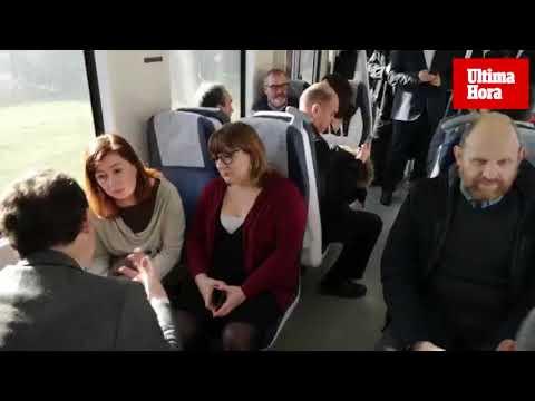 Viaje inaugural de la red eléctrica ferroviaria Palma-Manacor