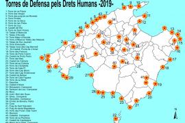 Baleares iluminará sus torres por los derechos humanos