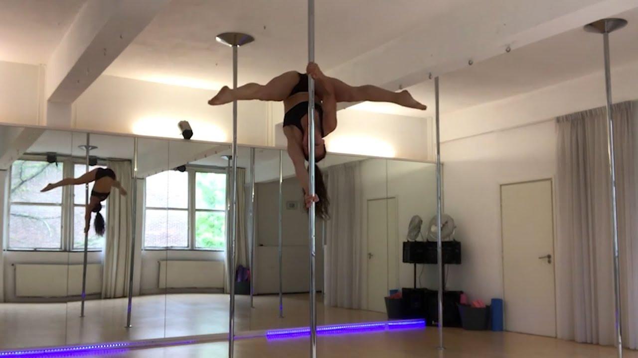 La brutal caída de una 'pole dancer'