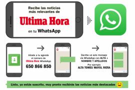 Recibe las noticias de ULTIMA HORA en tu WhatsApp. Sigue estos pasos