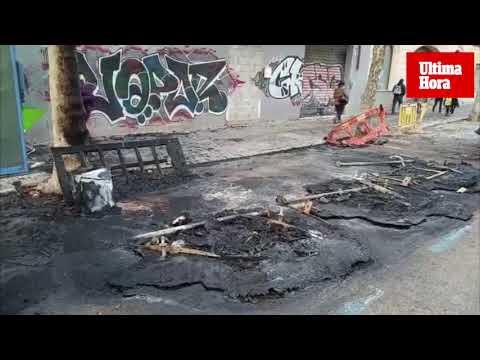El pirómano de Palma quema dos baterías de contenedores