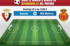 Osasuna-Real Mallorca, en directo