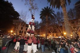 Los Castellers de Mallorca reaparecen en Palma por Sant Sebastià