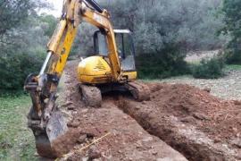 Paralizan unas obras sin licencia en un olivar protegido en Estellencs