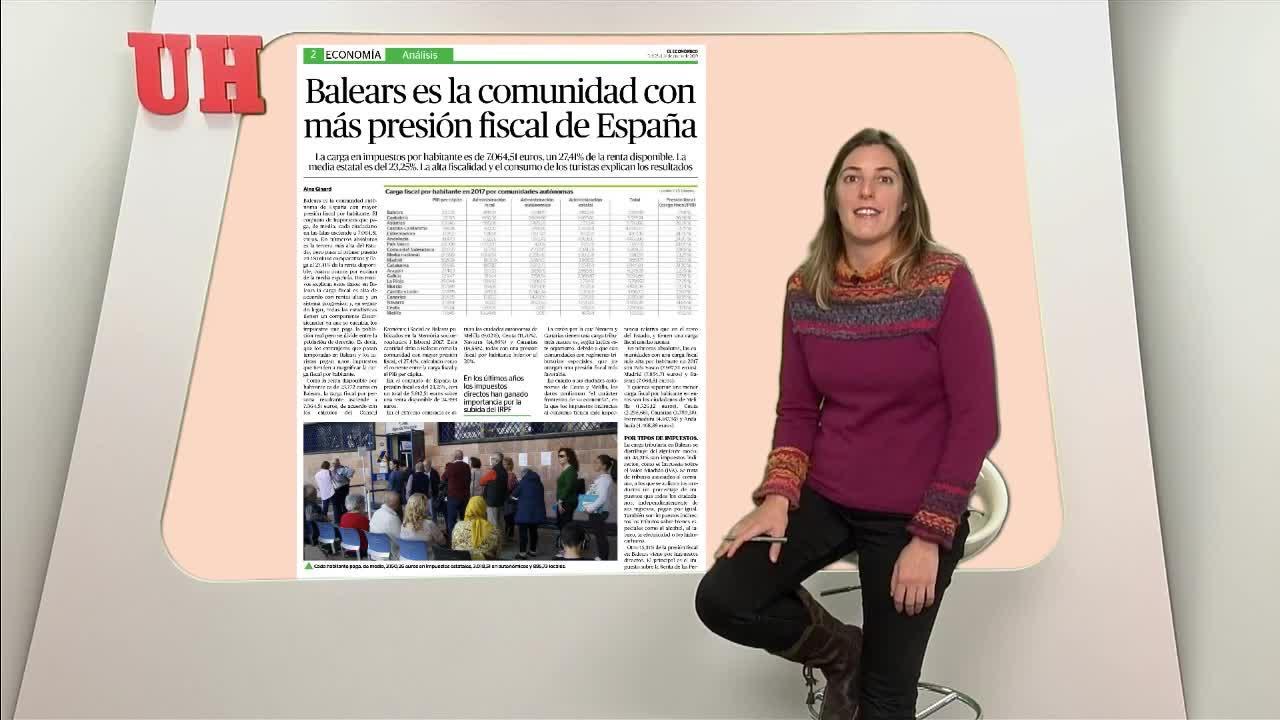 Balears es la comunidad con más presión fiscal de España
