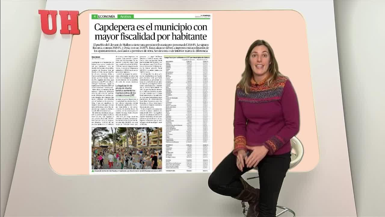 Capdepera es el municipio con mayor fiscalidad por habitante