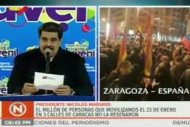Maduro arremete contra el ultimátum europeo y se pone a cantar «Que viva España»