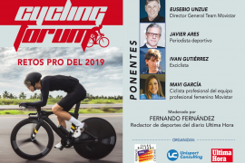 Conferencia 'Cycling forum. Retos pro del 2019' en Palma
