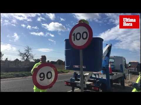 Ocho carreteras de Mallorca bajan la velocidad máxima