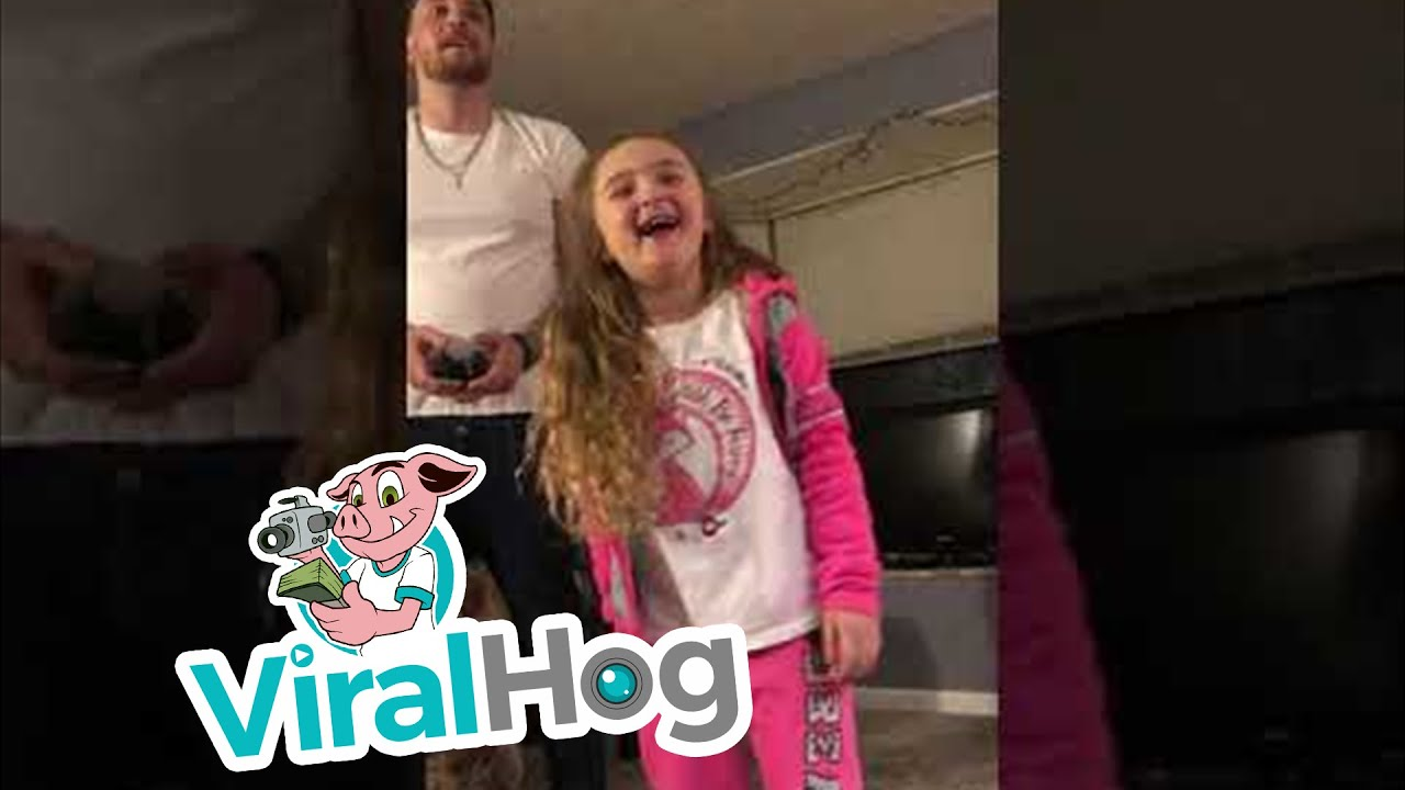 Un padre usa un dron para quitarle un diente a su hija