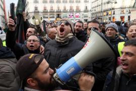 Protestas de taxistas en Madrid: Anginas de pecho, ataques de vértigo y ansiedad