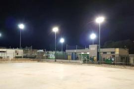 Iluminación LED y reparaciones en el pavimento de la pista de Son Roca