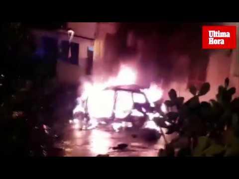 Una mujer quema el coche de su pareja con él dentro tras ser agredida en Manacor
