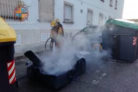 Sofocan un incendio en un contenedor en la calle Pedregar de Palma