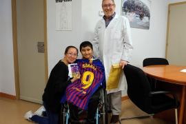 Un niño parapléjico hace realidad su sueño gracias al ministro Marlaska