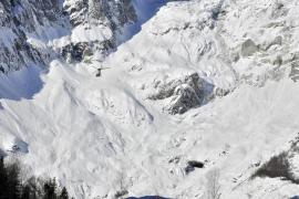 Avalancha en los Alpes italianos