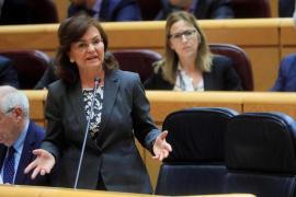 La vicepresidenta del Gobierno participa este sábado en un acto del PSOE en Inca
