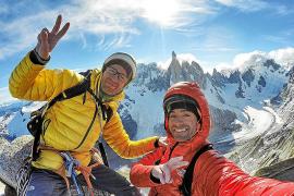 Los hermanos Pou abren una nueva vía en la Patagonia