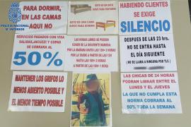 El regente de un prostíbulo en Palma sometía a las mujeres a condiciones infrahumanas