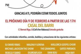 Cartel de la gala benéfica para Jairo y su familia