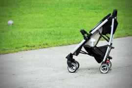 Secuestra un cachorro y lo esconde en un carrito de bebé