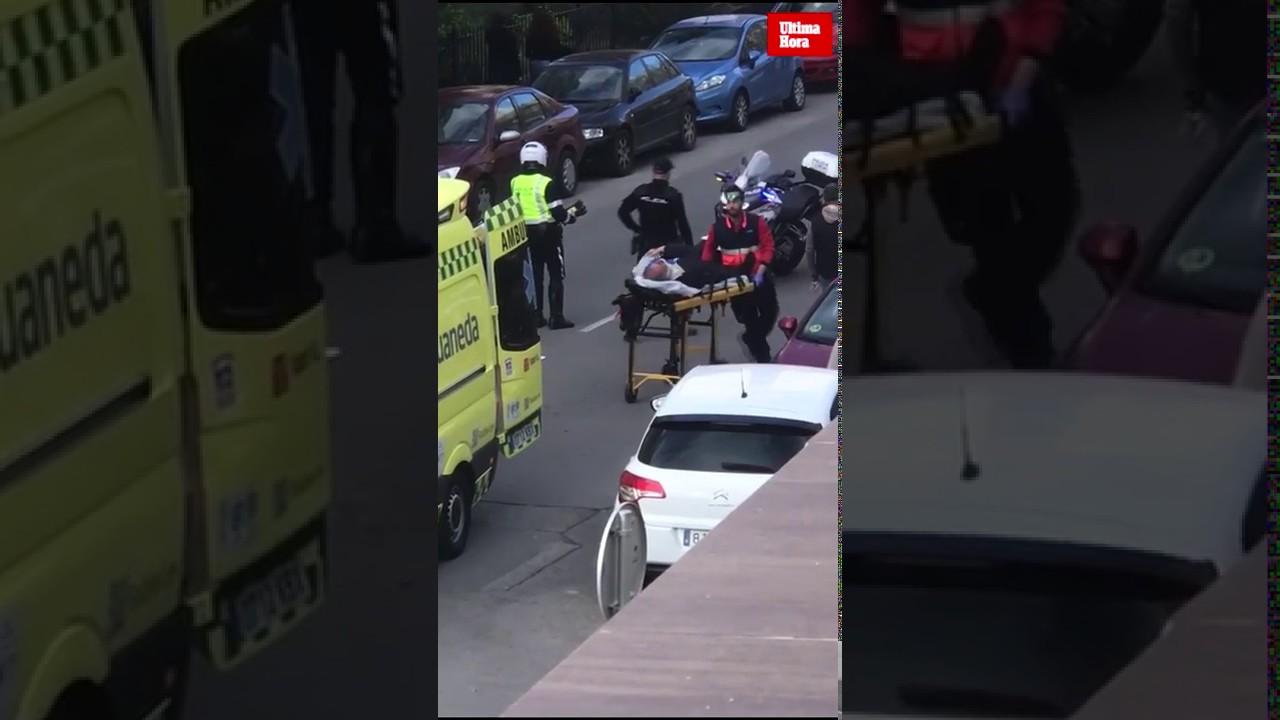 Un motorista, herido en un accidente en Palma