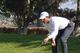 Rafael Nadal, líder del Campeonato de Balears de golf