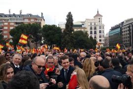 Unas 45.000 personas asisten a la manifestación según la Policía Nacional