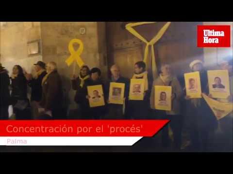 Más de 300 personas se concentran en Palma contra el juicio a los políticos catalanes