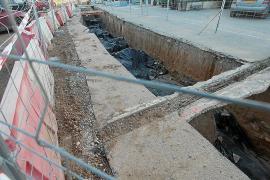 Hallados restos humanos del siglo I d.C en las obras de la carretera de Santa Eulària