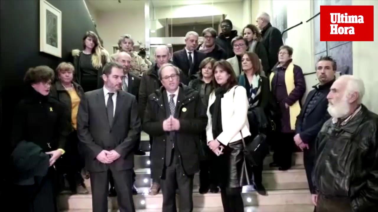 Quim Torra en Palma: «El juicio del Supremo está desnudando al Estado español»