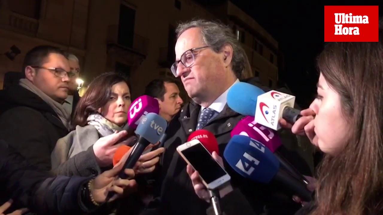 Torra asiste al funeral de Aina Moll: «Los países catalanes están de luto»