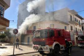 Incendio en un local del Port de Pollença