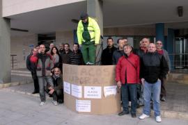 Protesta del sindicato USO en Emaya
