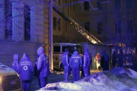 Se derrumba el techo de un edificio universitario en San Petersburgo
