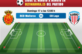 Real Mallorca-Lugo, en directo