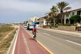 El peligroso carril bici de sa Ràpita será protegido con barreras de madera
