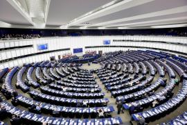 Vista general del interior del Parlamento europeo.