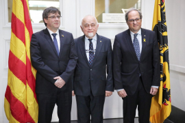 Puigdemont y Torra arremeten en Bruselas contra la UE