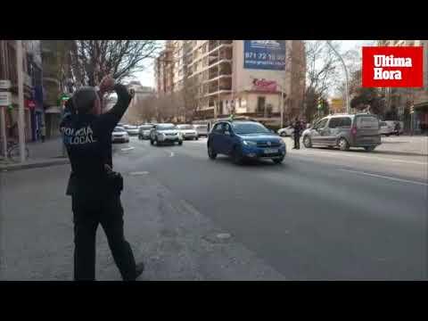 Varios coches colisionan en la calle Aragón