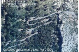 El Consell anuncia el desvío de un trazado de la carretera entre Caimari y Lluc por motivos de seguridad
