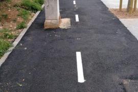 Ciudadanos denuncia los obstáculos del carril bici del Pont d'Inca